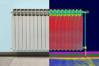 Lekdetectie thermografische infraroodcamera